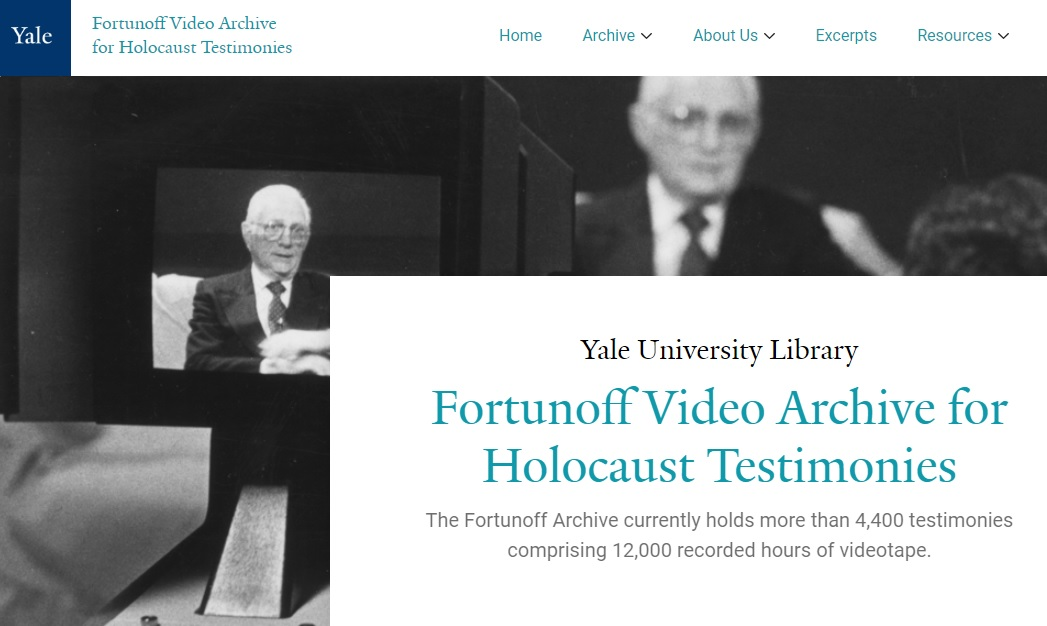 Fortunoff Video Archive for Holocaust Testimonies in Lviv