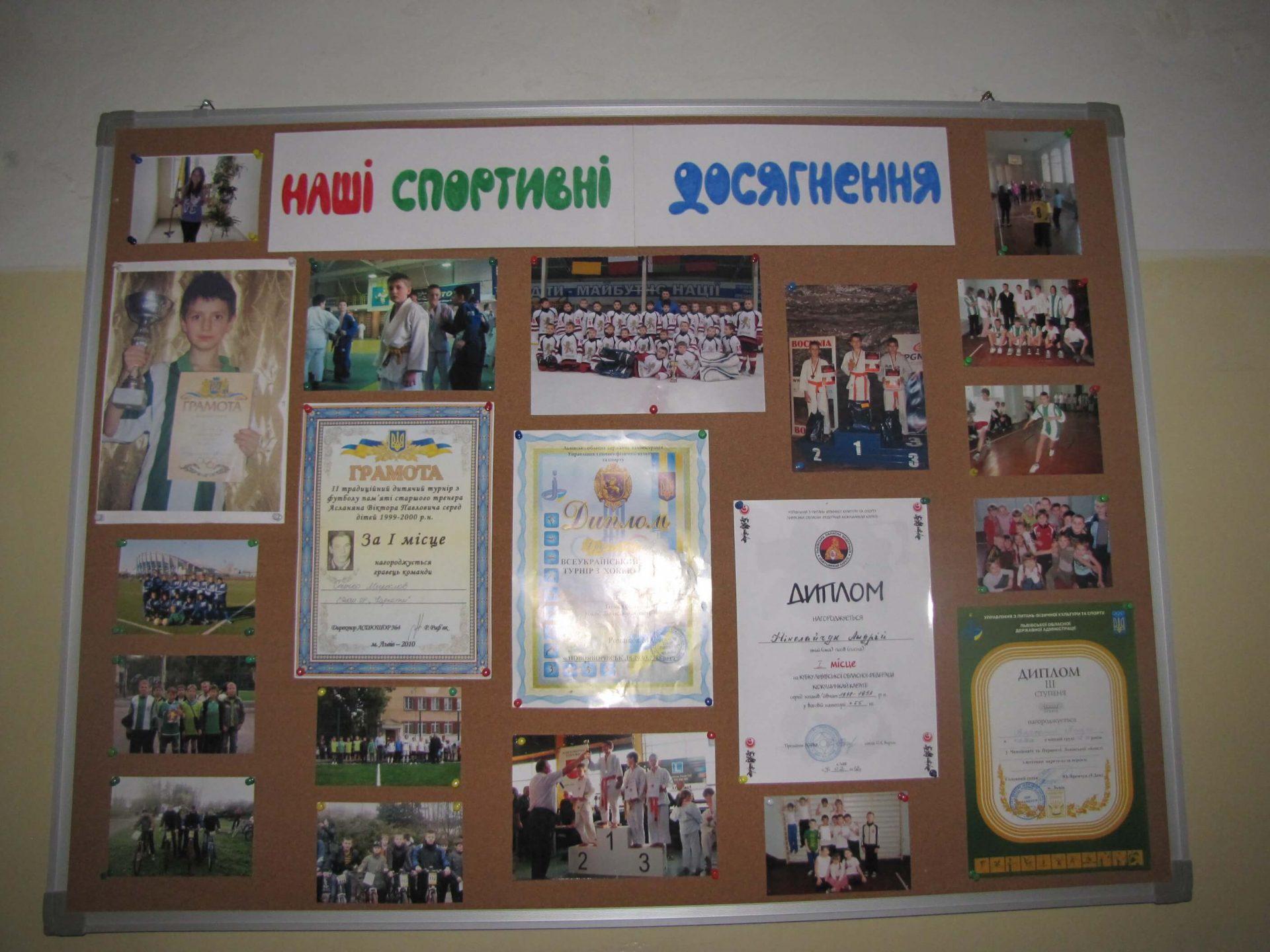 Учні львівських шкіл про спорт – місто – школу